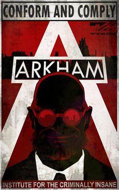 Arkham Asylum motto with Hugo Strange
