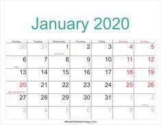 January 2020 Calendar Fillable 16 Best Blank January 2020 Calendar Printable Template images