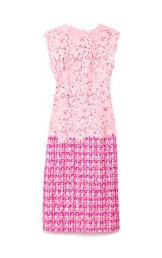 Shocking Pink Day Dress by Oscar de la Renta Now Available on Moda Operandi