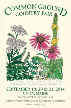 In nearby Unity, Maine . the Common Ground Country Fair -September and Newcastle, Common Ground Fair, Country Fair, Medicinal Herbs, Travel Posters, New England, Unity, Farmer, Artwork
