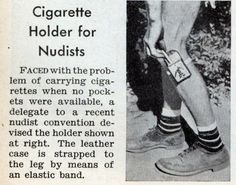 Cigarette Holder for Nudists  Pulp Librarian