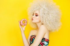 Pretty blonde with pink donuts Blonde With Pink, Image Now, Donuts, Fashion Photography, Stock Photos, Pretty, Free, Angels, Studio