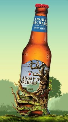 Angry Orchard hard cider. I don't like beer, so hard cider is my bottled drink of choice. I've tried quite a few different ones, but this one made by Samual Adams is my new favorite.--mix with...?