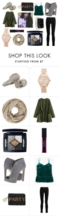 """""""OOTD"""" by hailey-smith-13 ❤ liked on Polyvore featuring Alexander McQueen, Michael Kors, John Lewis, Christian Dior, Maybelline, Nine West, J.Crew, Mary Frances Accessories, J Brand and Torrid"""