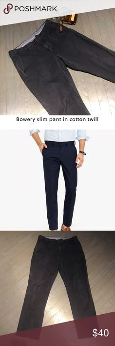 J Crew Bowery Urban Slim Cotton Twill Chino Pants J Crew Navy Blue Bowery Urban Slim Cotton Twill Chino Pants 32x32 J. Crew Pants Chinos & Khakis