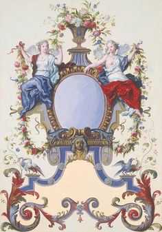 29 III Ottomar and Drawings, Watercolour and gouache, cm Origin: Holland, Between 1727 and 1735 Wall Painting Decor, Art Decor, Vintage Design, Vintage Images, Ornament Drawing, Decoupage Vintage, Wall Art Designs, Chinoiserie, Graphic