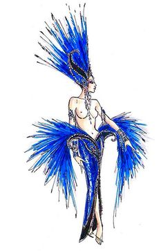 Jubilee Las Vegas Costume Illustration By Bob Mackie Las Vegas Costumes, Mardi Gras Costumes, Showgirl Costume, Vegas Showgirl, Fantasy Costumes, Dance Costumes, Cabaret, Katy Perry Dress, Vegas Tattoo