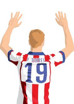 Poster de Fernando Torres A3: 297mmx420mm Atlético por EntireDesign