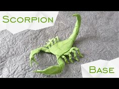 Origami Scorpion by Robert J. Lang (TUTORIAL) Base - YouTube