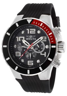 Invicta Watches Men's Pro Diver Multi-Function Black Textured Polyurethane