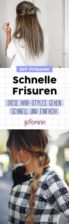 Monday hairstyles: 4 hacks when the morning is fast and easy .- Montags-Frisuren: 4 Hacks, wenn's morgens schnell und einfach gehen muss! Fast Hairstyles: THAT are the perfect Monday morning hairstyles 😀 - Fast Hairstyles, Braided Hairstyles, Diy Makeup, Makeup Tips, Makeup Hacks, Quick Makeup, Makeup Products, Makeup Ideas, Hair Images