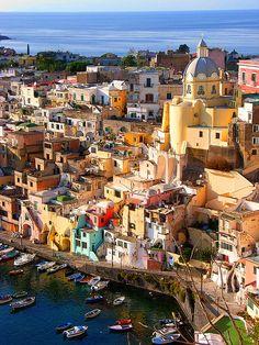 Corricella, Procida Island, Italy (by hillman54).