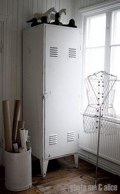 White locker