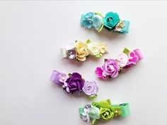 Beautiful Prettiest Bow floral hair clips! #Vancouver #baby
