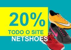 Cupom de desconto Netshoes, todo o site com 20% de desconto http://desconto.gratis/cupom/oferta-netshoes-todo-site-20-off/