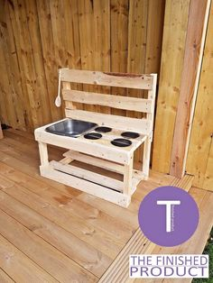 Other Outdoor Toys/ Activities Toys & Games Outdoor Play Kitchen, Diy Mud Kitchen, Mud Kitchen For Kids, Kitchen Dishes, Outdoor Fun For Kids, Backyard For Kids, Garden Kids, Pallet Kids, Backyard Playground