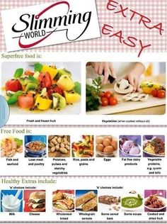Extra easy plan :) slimming world free foods, eating plans, good healthy recipes Slimming World Recipes Syn Free, My Slimming World, Slimming Eats, Syn Free Food, Sliming World, Good Healthy Recipes, Diet Recipes, Easy Recipes, Eating Plans