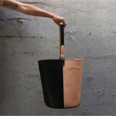 FW15 Creatures of Comfort bicolored bucket bag