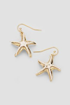 Starfish Earrings with Pearls
