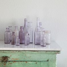 Fern Creek Cottage: Making antique style lavender glass bottles, sort of.