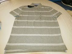Men's Tommy Hilfiger Polo shirt  logo 7871410 Grey Heather 004 S Classic Fit #TommyHilfiger #polo