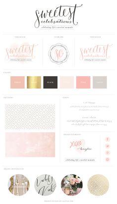 New Brand Launch: Sweetest Celebrations   brand design by saltedink   #brand #logo #brandboard