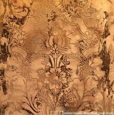 Large Floral Damask Wall Stencils - DIY Wallpaper Look – Royal Design Studio Stencils Damask Wall Stencils, Large Wall Stencil, Stencil Wall Art, Stencil Painting On Walls, Faux Painting, 3d Wall Art, Stencil Diy, Stencil Designs, Stenciling
