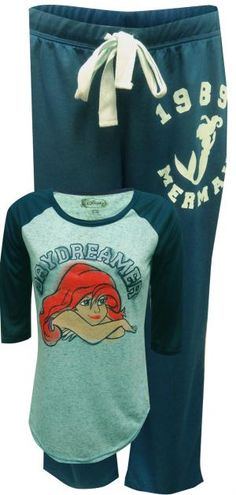 Disney Little Mermaid Princess Ariel Daydreamer Pajama Set