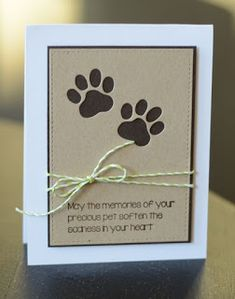 Frantic Stamper Precision Die - Dog Paw Print Set - Tap the pin for the most adorable pawtastic fur baby apparel! You'll love the dog clothes and cat clothes! Box Photo, Shilouette Cameo, Pet Sympathy Cards, Sympathy Messages, Frantic Stamper, Card Sentiments, Dog Cards, Cricut Cards, Get Well Cards