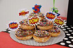 Superhero Donut Cake