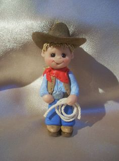 cowboy Christmas ornament personalized polymer clay western toddler children gift  birthday. at etsy.com   store is clayqts