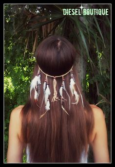 Boho Soul  Feather headband native american by dieselboutique