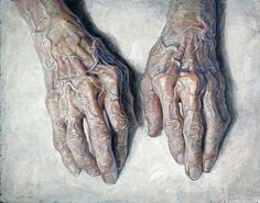 Daniel Barkley Main de Grandmaman 2010 acrylic on canvas/acrylique sur toile 96 x 122 cm, x Short-listed for the Kingston Prize, Canada's portrait competition. Louise Bourgeois, Figure Painting, Painting & Drawing, Hand Kunst, Decay Art, Growth And Decay, Old Hands, A Level Art, Hold My Hand
