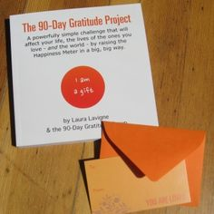 """First, before you get too excited, we have to tell you: you cannot buy this book for yourself.   Serious.   Created in happy collaboration with our online 90-Day Gratitude Attitude Challenge group, this little gem has to be gifted.   So you gift it to someone, and if you ask a few times, there is a good chance that someone will gift it to you (find out more about how this came to be)  90 days of focusing on """"what's going well"""" is a life changer, a Happiness Maker.   Who do you know who may ..."""