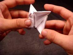 Video on How to Make a Paper Ninja Star (Shuriken) - Origami for Ninjago Birthday Party.