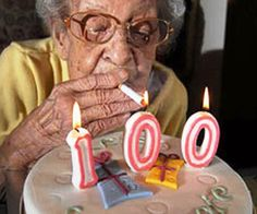 """Best thing about turning 100? No peer pressure"""