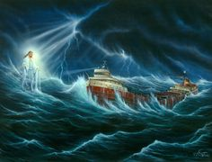 Edmund Fitzgerald By Steve Witucki Funny Hunting Pics, Hunting Humor, Edmund Fitzgerald, Ella Fitzgerald, Great Lakes Shipwrecks, Great Lakes Ships, The Fitz, Ship Paintings, Michigan Travel