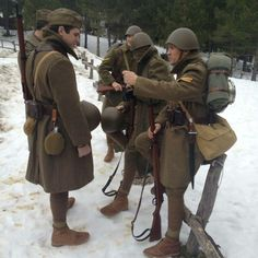 Reenactors. Greek army. 1940.