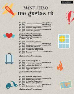 Me gustas tú. Manu Chao. Canción para practicar el verbo gustar. http://lenguajeyotrasluces.wordpress.com/
