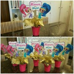 Ideas para Cumpleaños: 80 ideas para decorar cumple de Shimmer y Shine Kids Birthday Themes, 6th Birthday Parties, 3rd Birthday, Birthday Celebrations, Shimmer Y Shine, Arabian Nights Party, Birthday Party Centerpieces, Minnie Mouse Party, Birthdays