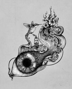 Liberty Tattoo, Flower Thigh Tattoos, Spirited Art, Tattoo Flash Art, Sketch Inspiration, Hippie Art, Cool Art Drawings, Fairy Art, Skin Art