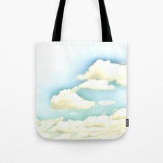 Cloud Tote Bag Ocean Blue Sky Tote Cloudy Sky Tote Beach by MGMart