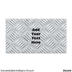 Iron metal plate looking custom business cards