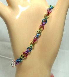 SALE Bracelet, Chainmaille, Chainmail, Jump Ring, Pastel, Unique Jewelry by thecuriouscupcake on Etsy. $12.00, via Etsy.