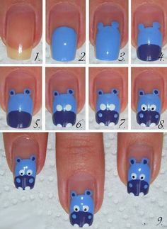 cool cute nail tutorials for your new manicure – pretty designs - Nail Designs Farm Animal Nails, Animal Nail Art, Pretty Designs, Cute Nail Designs, Nail Art Diy, Easy Nail Art, Do It Yourself Nails, Nail Art Halloween, Cow Nails