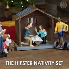 Millennial Nativity Figurine and Stable Set - Hipster Nativity Scene Each Piece Hand Painted and Made of Durable Polyresin - Figurines - Full Set Birth Of Jesus, Baby Jesus, Christmas Nativity, Christmas Diy, Xmas, Funny Christmas, Christmas Stuff, Merry Christmas, Three Wise Men