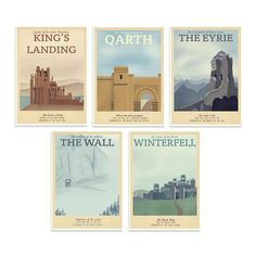 Game of Thrones Travel Posters - $55