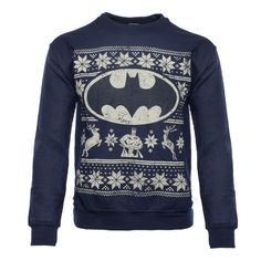 Product code: Officially-licensed Batman merchandise Warm sweater with a printed design Design features Batman, the Bat Symbol, two reindeer, and other festive decorations Rich navy blue sweater features a distressed design An exact replica of th Warm Sweaters, Blue Sweaters, Ugly Sweater, Christmas Jumpers, Ugly Christmas Sweater, Holiday Sweater, Blue Christmas, Christmas Holidays, Christmas Ideas