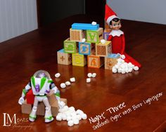 Elf On The Shelf Idea: snowball fight