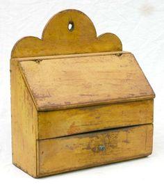 1 drawer lift top slant lid wall hanging box